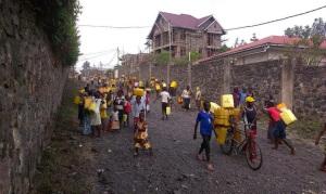 Fotografías de la campaña 'Goma quiere agua'  de LUCHA /facebook.com/lucha.rdcongo