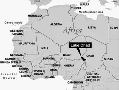 Lago Chad / Imagen procedente  de http://formarlazos.blogspot.com.es/.-