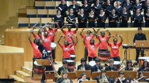 Concierto de despedida de de la Gira Tambores para la convivencia ,  en Zaragoza, con ANIDAN - Bloko del Valle Juniors Band y los  jóvenes del Orfeón Donostiarra, la Orquesta Sinfónica de Euskadi / Vía blokodelvalle.com