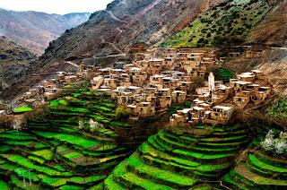 Imlil, pueblo bereber de Marruecos situado en el Atlas.