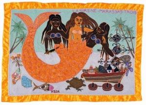 Representación de Mami Wata en Haití, donde se le denomina 'la Sirène' o 'la Baleine', la sirena o la ballena en español.