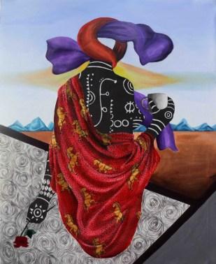 Portrait of a human heart', Kelechi Nwaneri (2020).